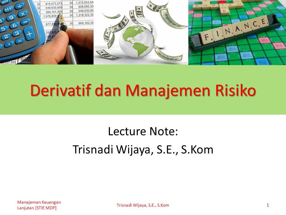 Derivatif dan Manajemen Risiko