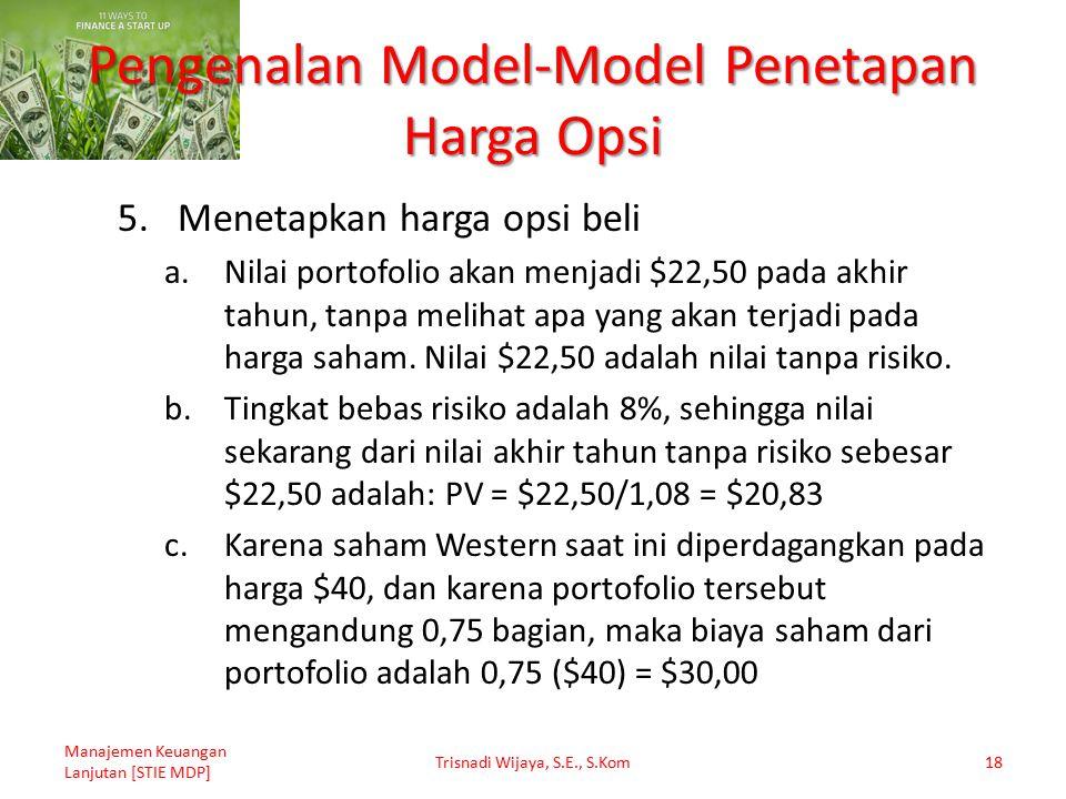 Pengenalan Model-Model Penetapan Harga Opsi