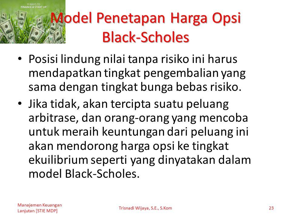 Model Penetapan Harga Opsi Black-Scholes