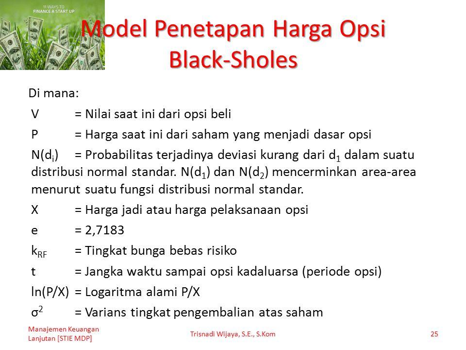 Model Penetapan Harga Opsi Black-Sholes