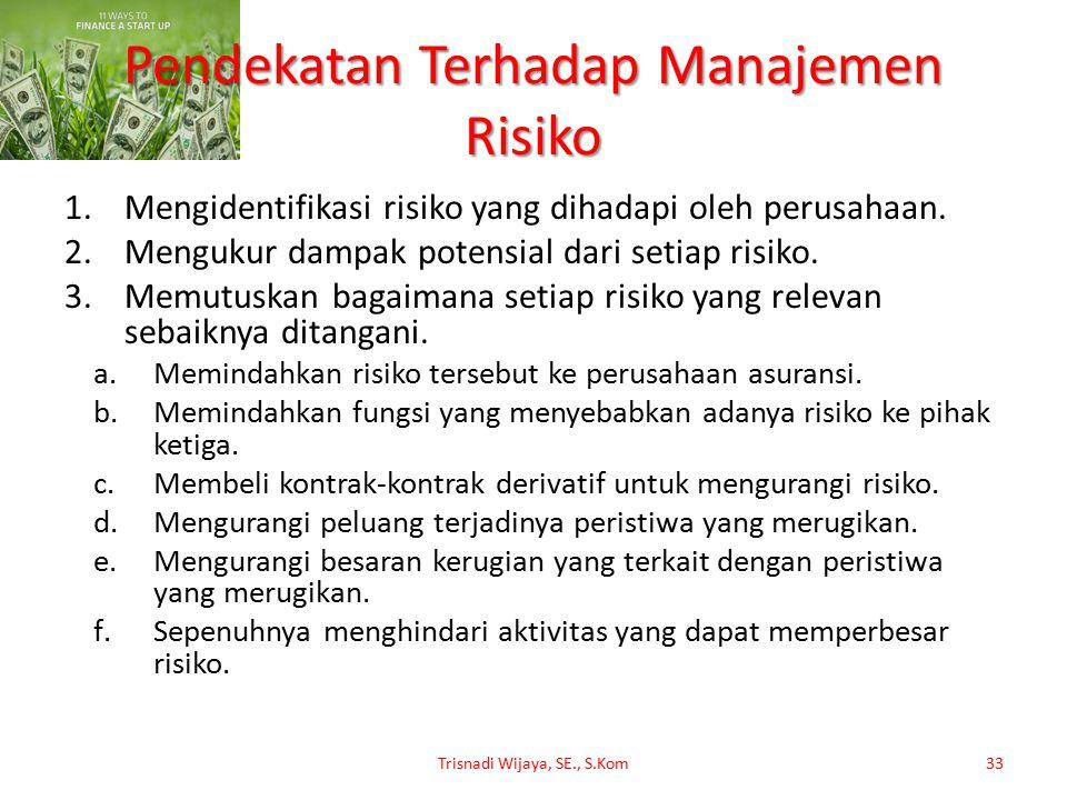 Pendekatan Terhadap Manajemen Risiko