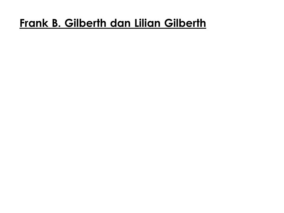 Frank B. Gilberth dan Lilian Gilberth