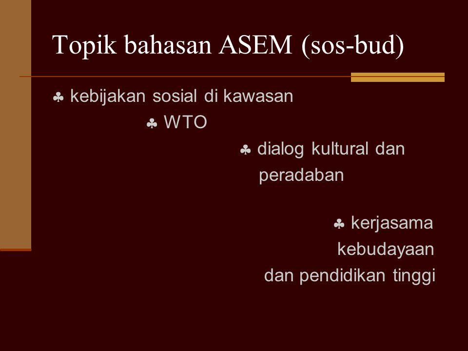 Topik bahasan ASEM (sos-bud)