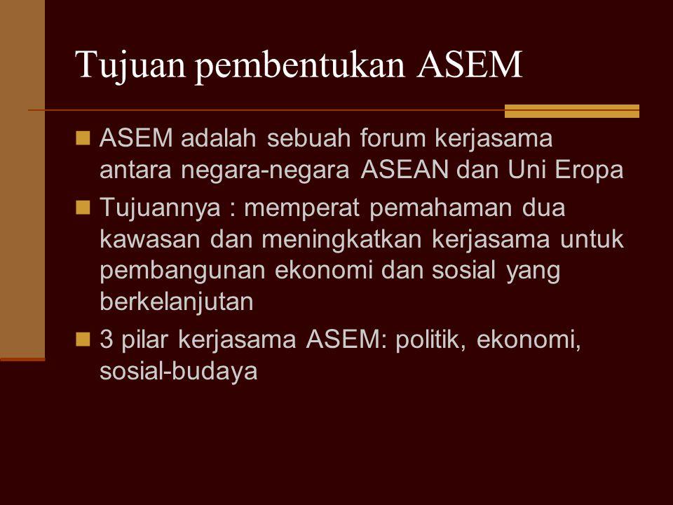 Tujuan pembentukan ASEM
