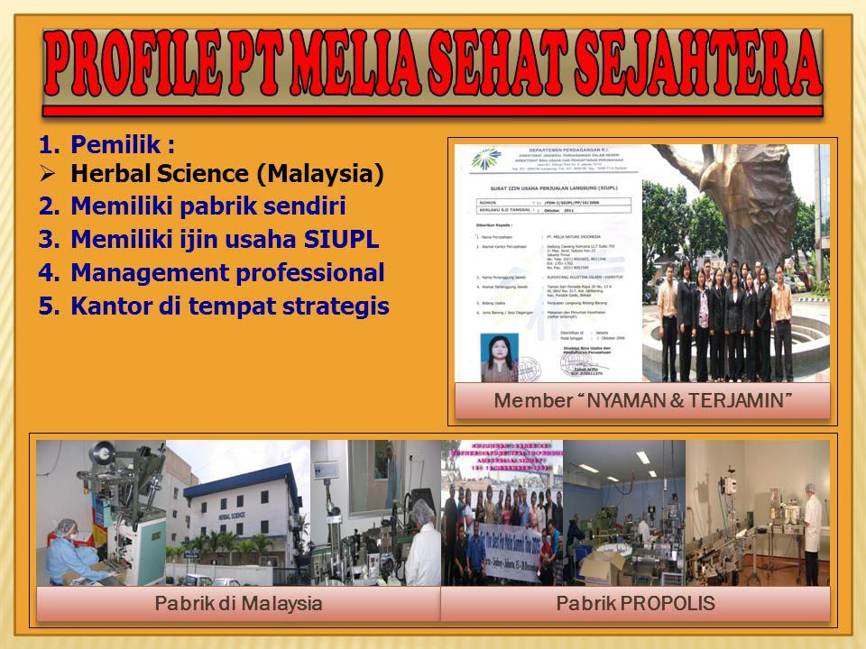 PROFILE PT MELIA SEHAT SEJAHTERA Member NYAMAN & TERJAMIN