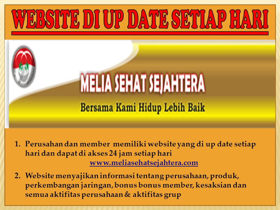 WEBSITE DI UP DATE SETIAP HARI