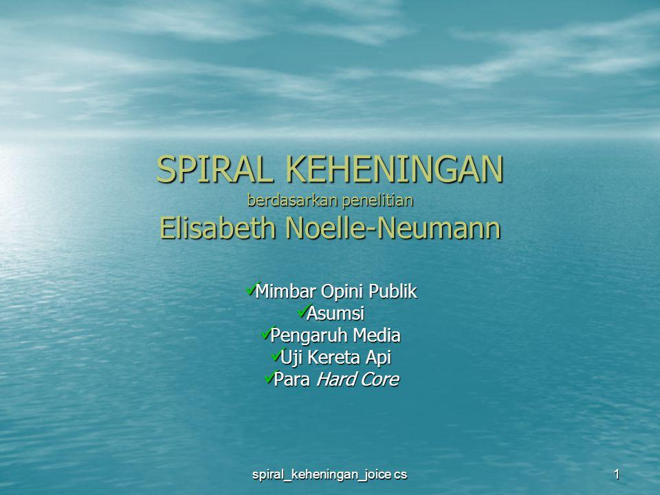 SPIRAL KEHENINGAN berdasarkan penelitian Elisabeth Noelle-Neumann