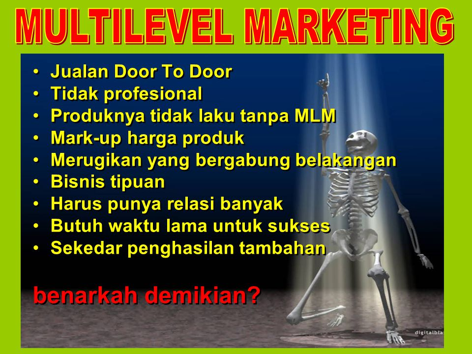 MULTILEVEL MARKETING benarkah demikian Jualan Door To Door