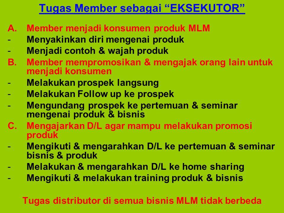 Tugas Member sebagai EKSEKUTOR