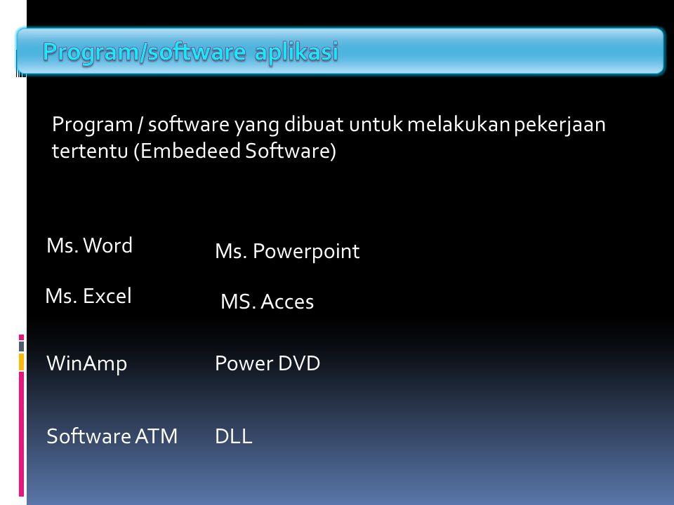 Program/software aplikasi