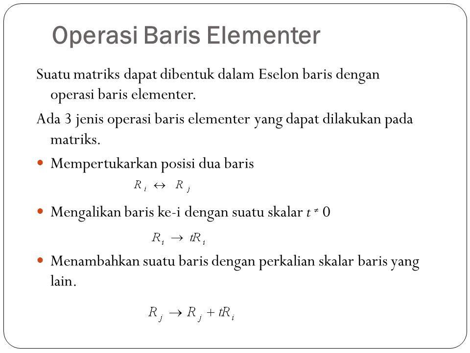 Operasi Baris Elementer
