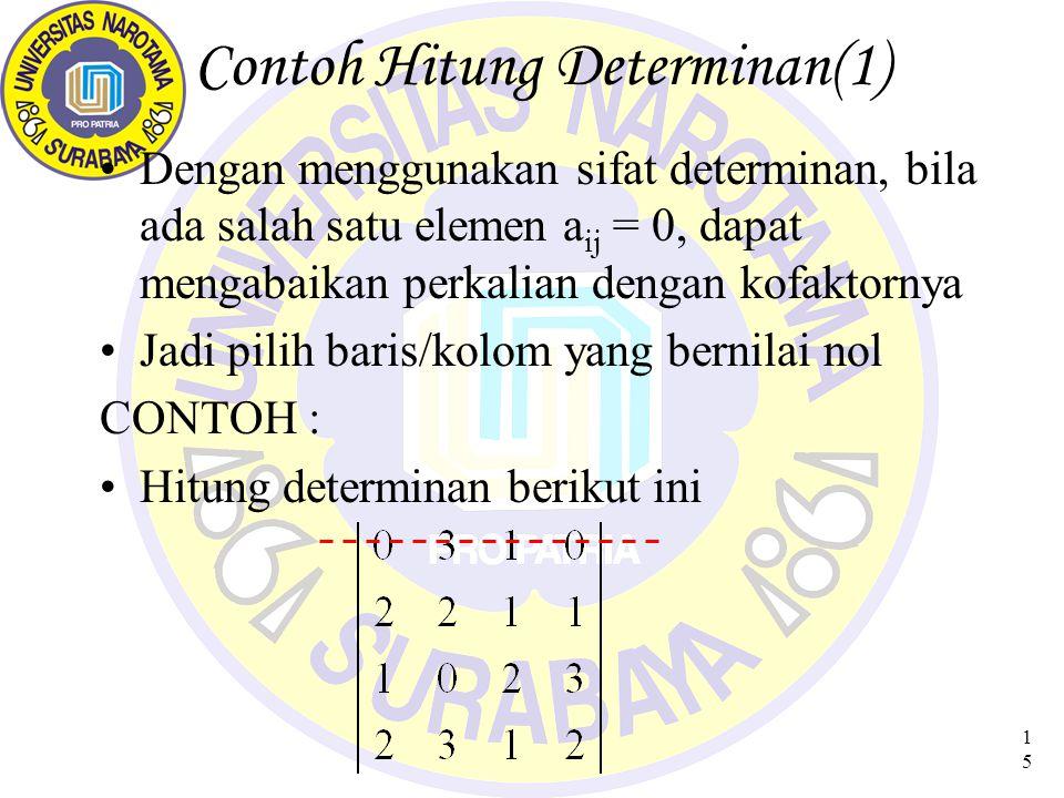Contoh Hitung Determinan(1)