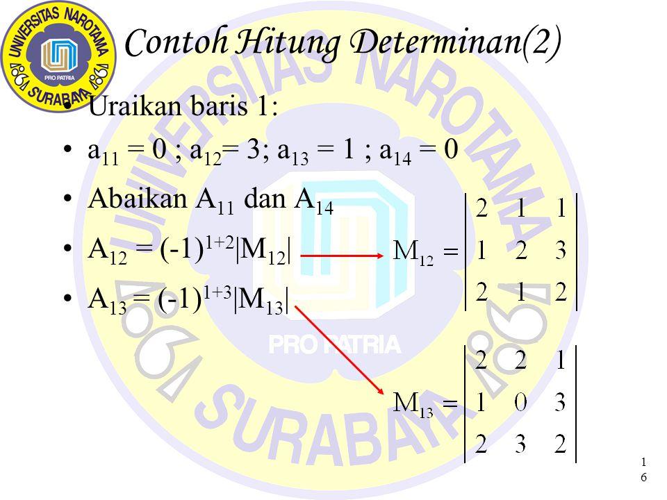 Contoh Hitung Determinan(2)