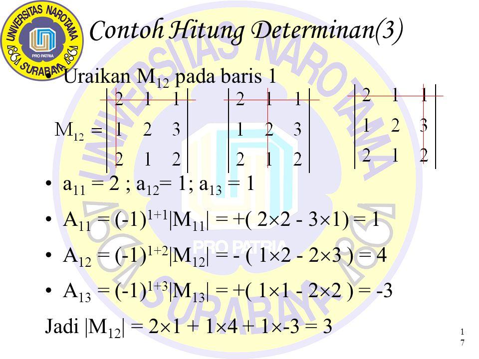Contoh Hitung Determinan(3)
