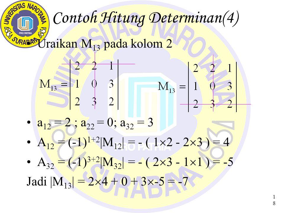 Contoh Hitung Determinan(4)