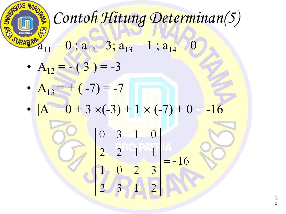 Contoh Hitung Determinan(5)