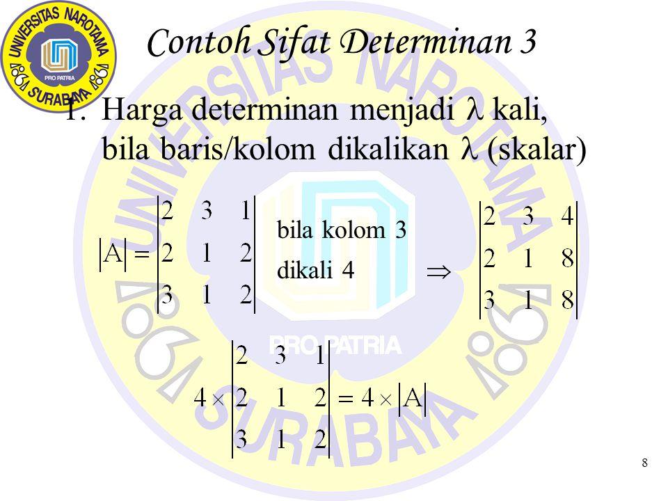 Contoh Sifat Determinan 3