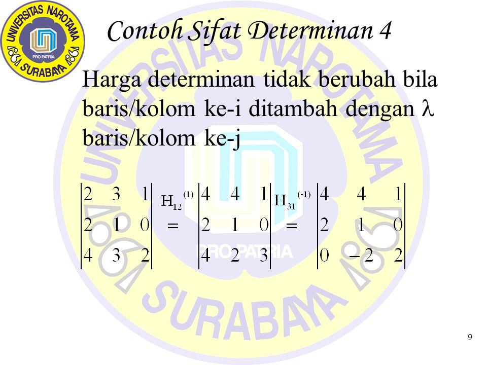 Contoh Sifat Determinan 4