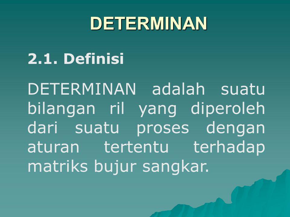 DETERMINAN 2.1. Definisi.