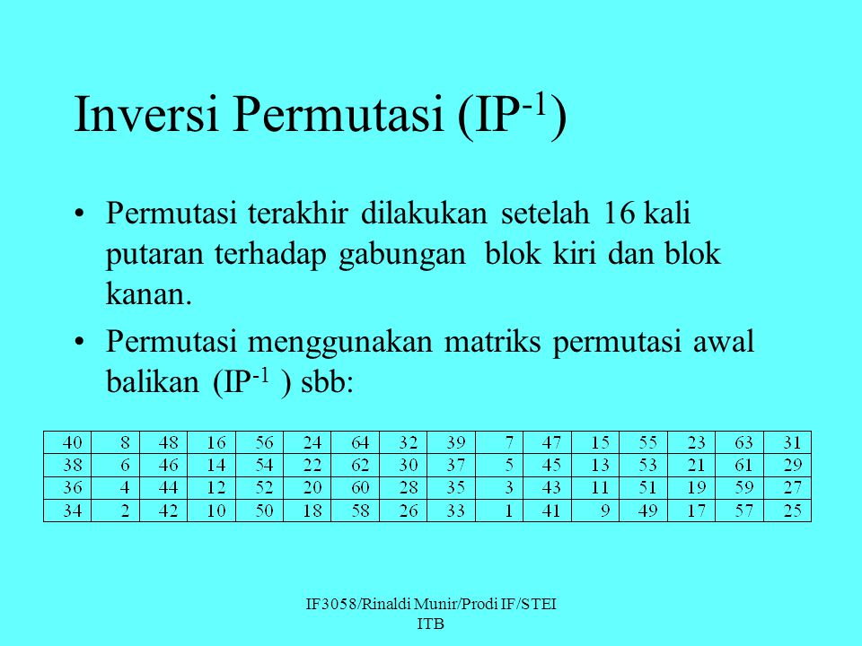 Inversi Permutasi (IP-1)