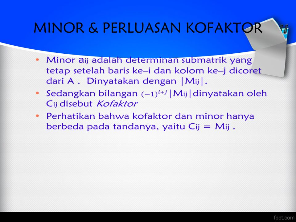 MINOR & PERLUASAN KOFAKTOR