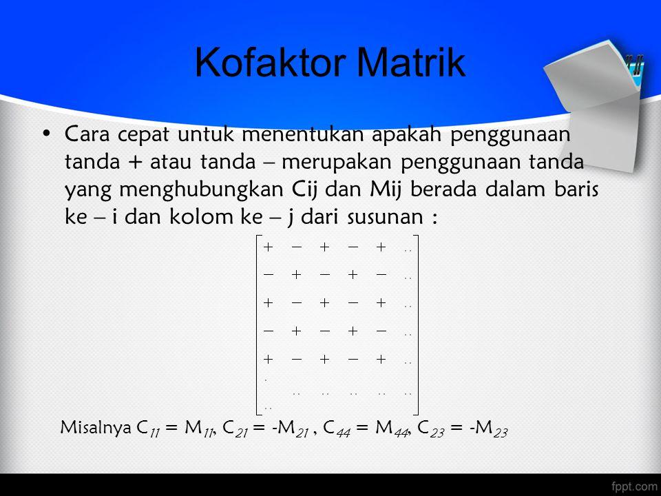 Kofaktor Matrik