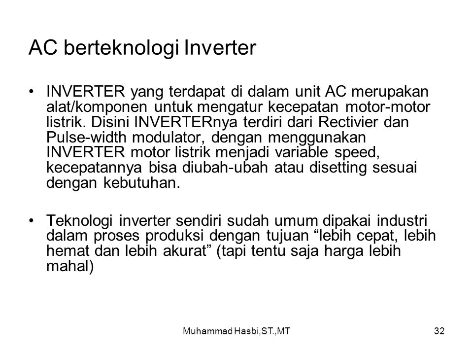 AC berteknologi Inverter