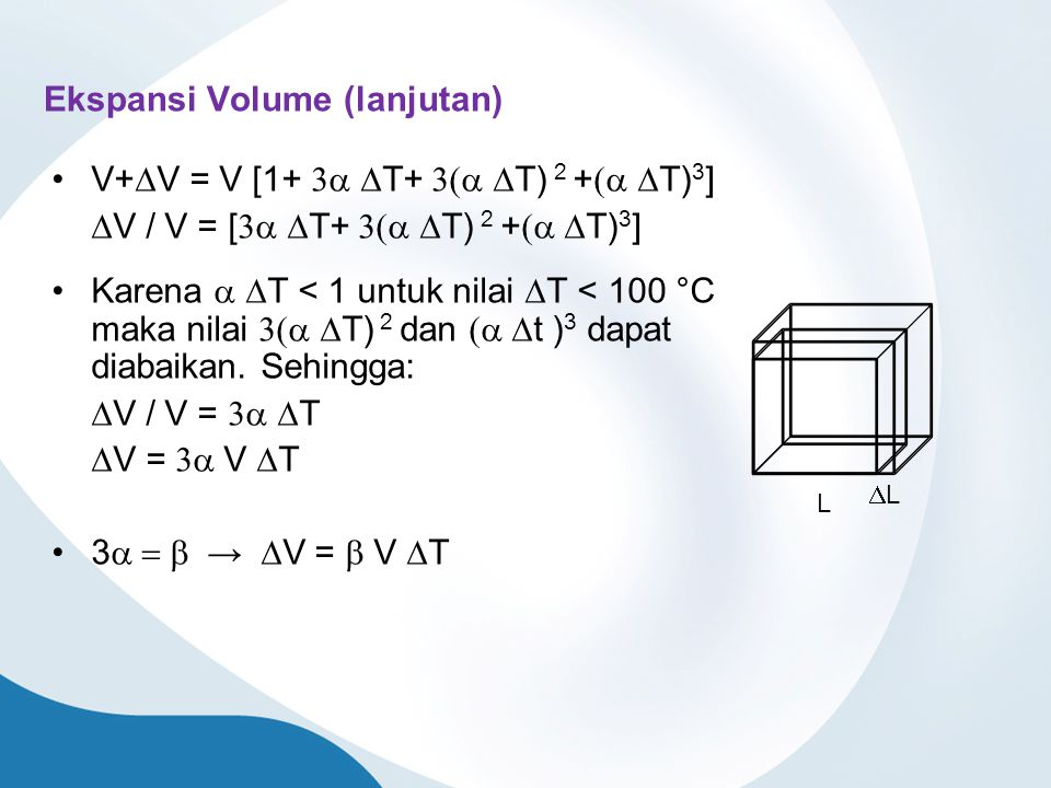 Ekspansi Volume (lanjutan)