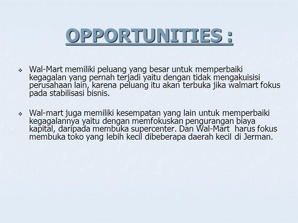 OPPORTUNITIES :