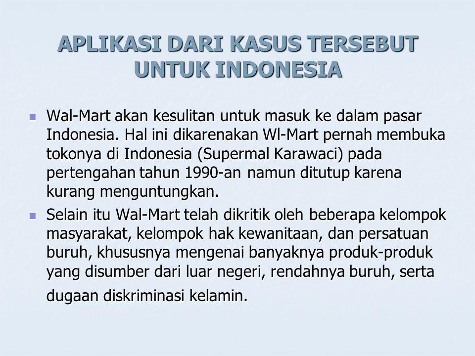 APLIKASI DARI KASUS TERSEBUT UNTUK INDONESIA
