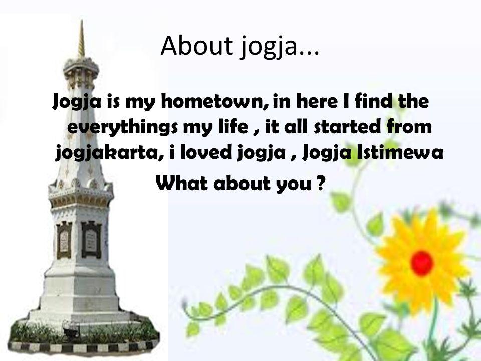 About jogja...