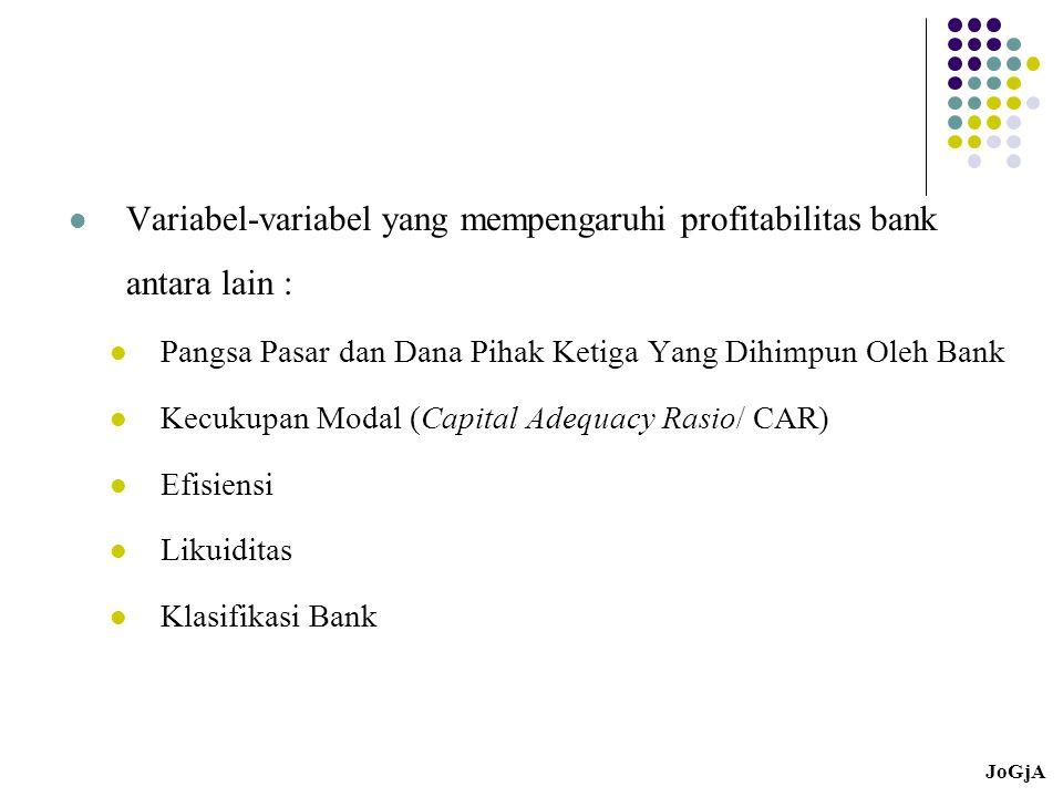 Variabel-variabel yang mempengaruhi profitabilitas bank antara lain :