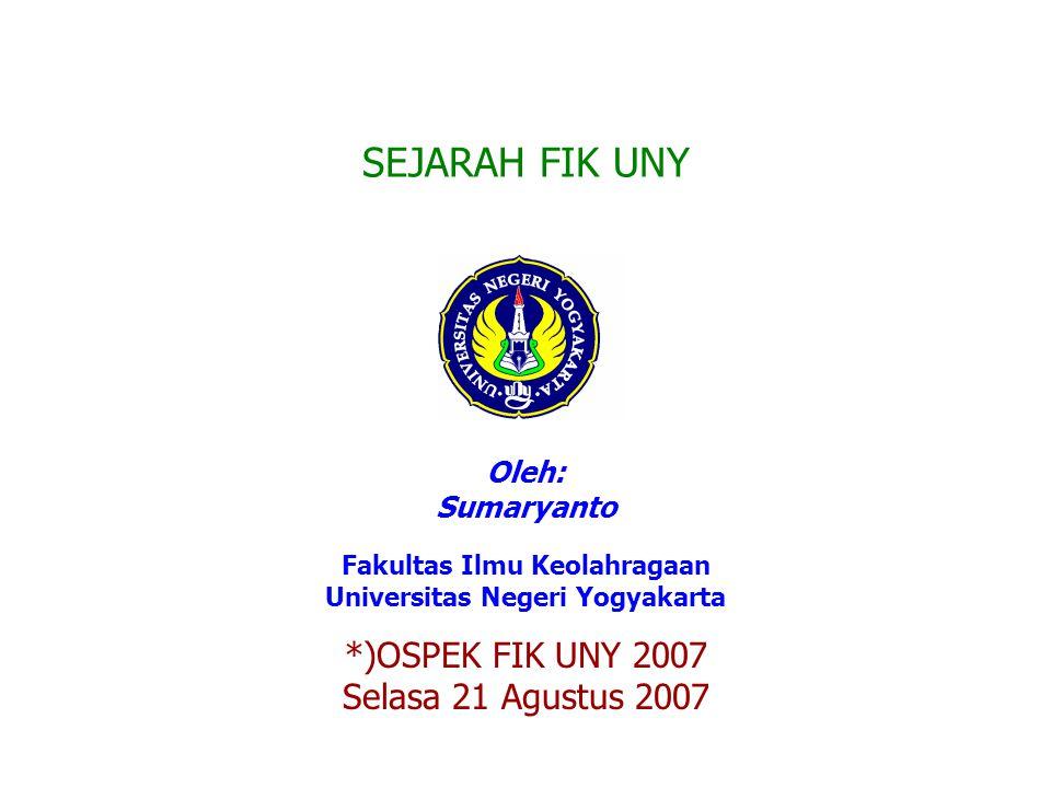 Fakultas Ilmu Keolahragaan Universitas Negeri Yogyakarta