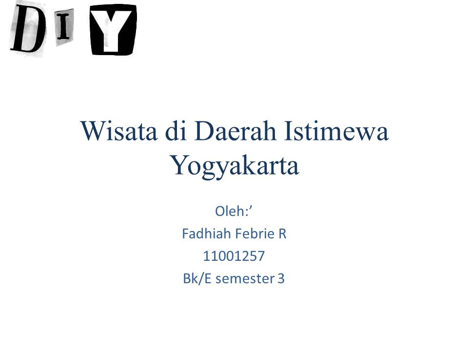 Wisata di Daerah Istimewa Yogyakarta