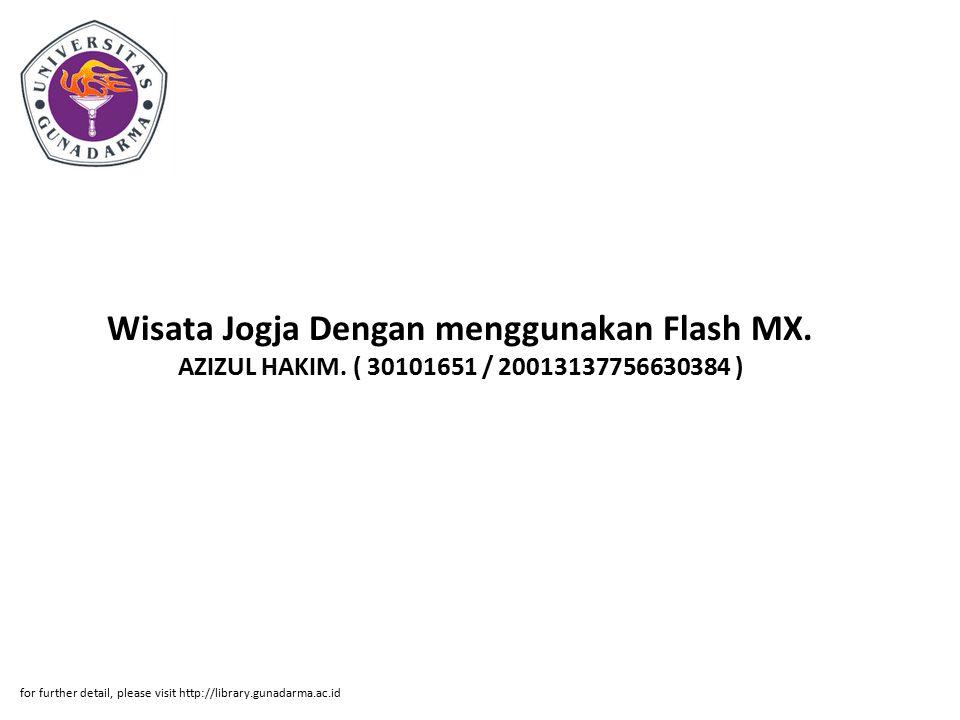 Wisata Jogja Dengan menggunakan Flash MX. AZIZUL HAKIM