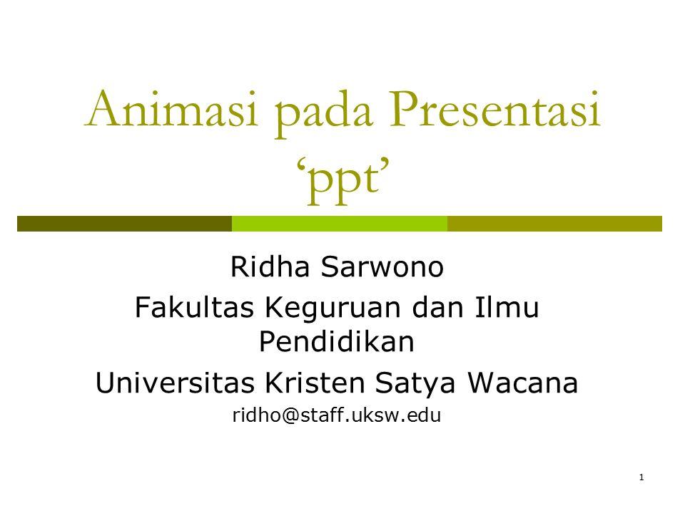 Animasi pada Presentasi 'ppt'