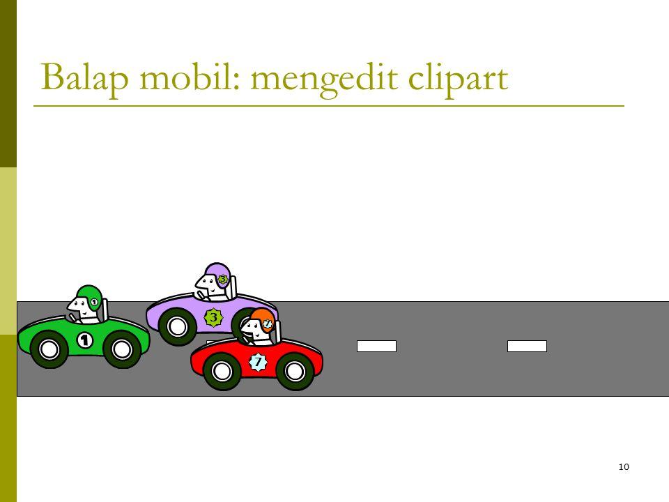 Balap mobil: mengedit clipart