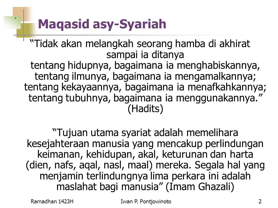 . Maqasid asy-Syariah.