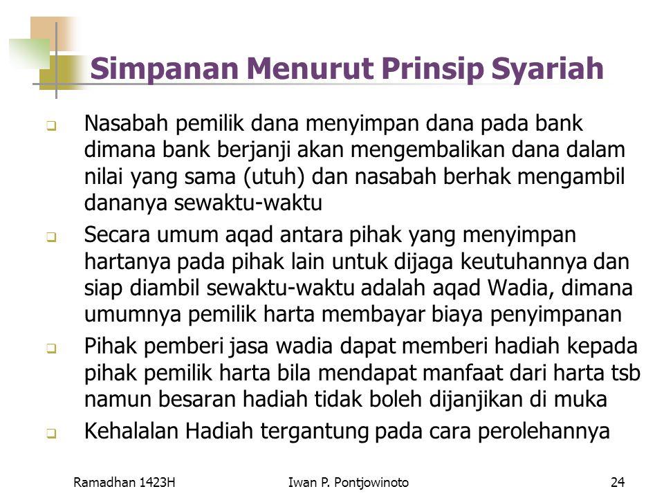 Simpanan Menurut Prinsip Syariah
