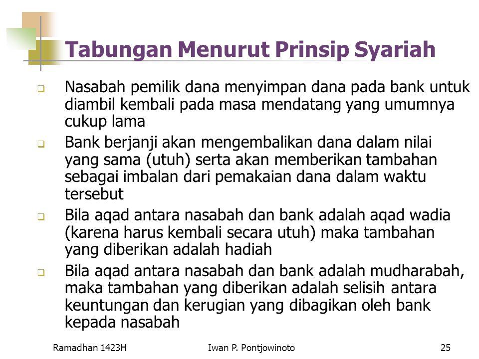 Tabungan Menurut Prinsip Syariah