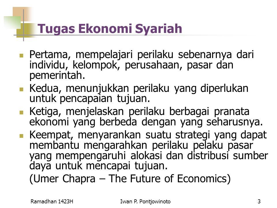 Tugas Ekonomi Syariah Pertama, mempelajari perilaku sebenarnya dari individu, kelompok, perusahaan, pasar dan pemerintah.