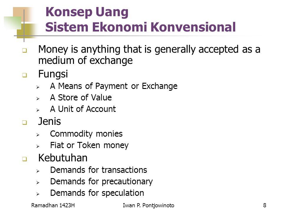 Konsep Uang Sistem Ekonomi Konvensional