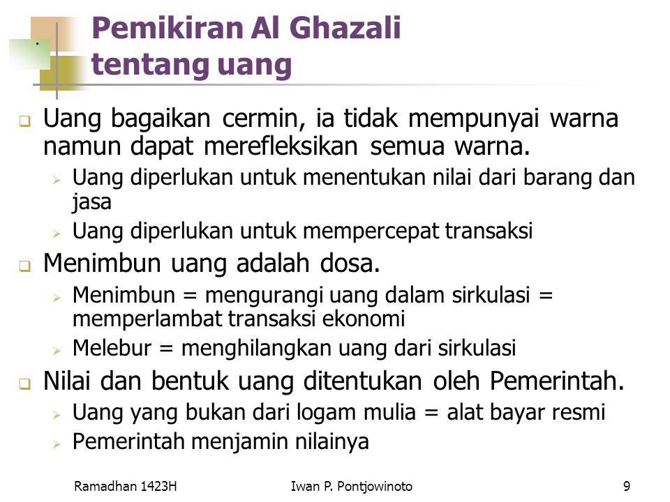 Pemikiran Al Ghazali tentang uang