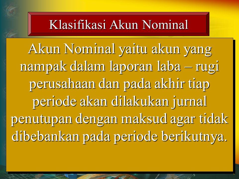 Klasifikasi Akun Nominal