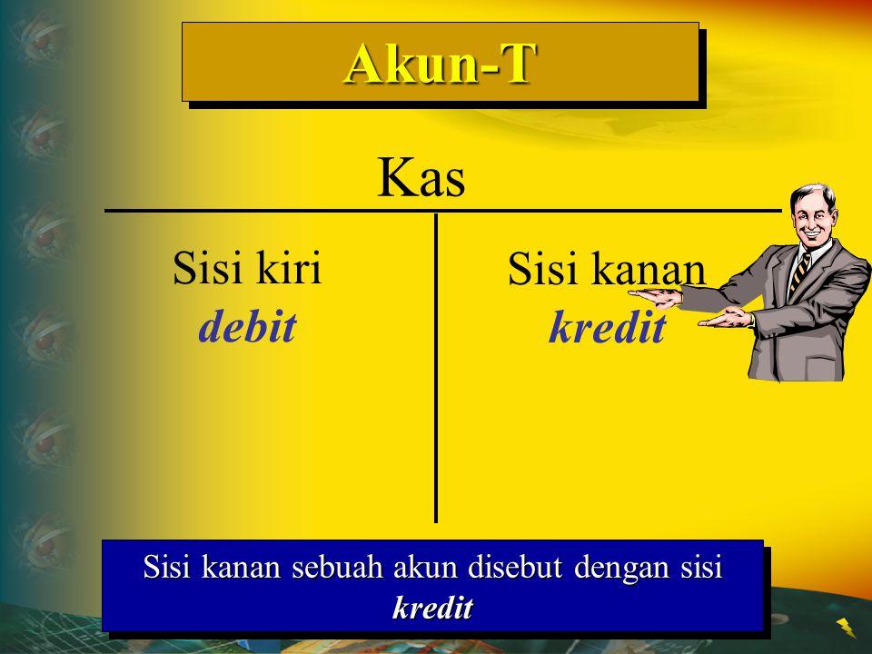 Sisi kanan sebuah akun disebut dengan sisi kredit
