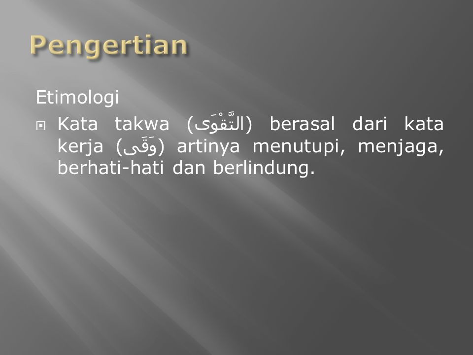 Pengertian Etimologi.