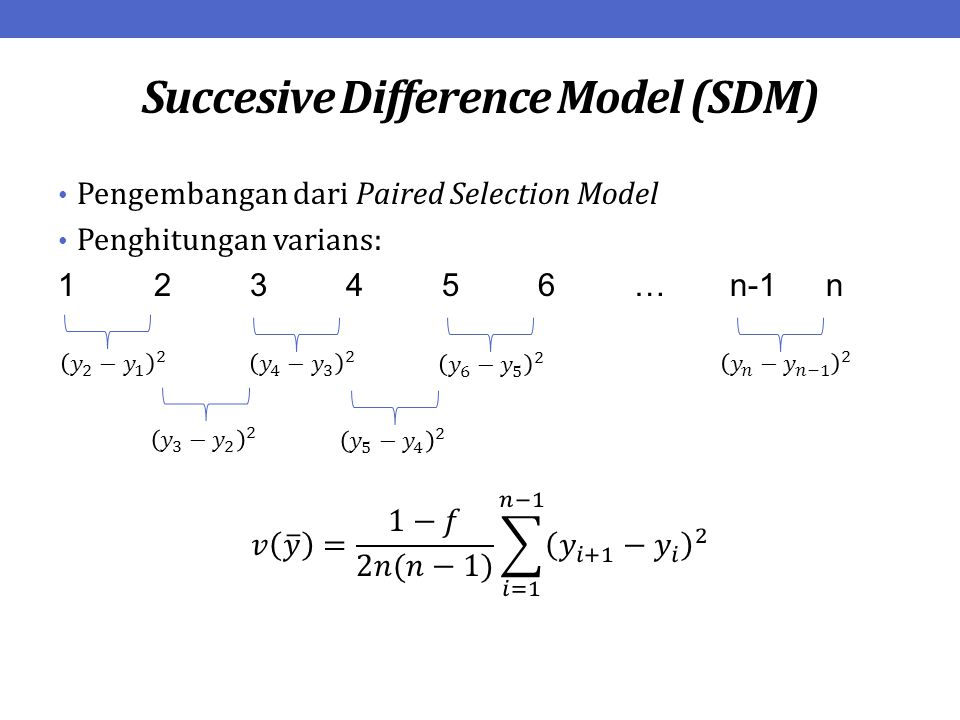 Succesive Difference Model (SDM)