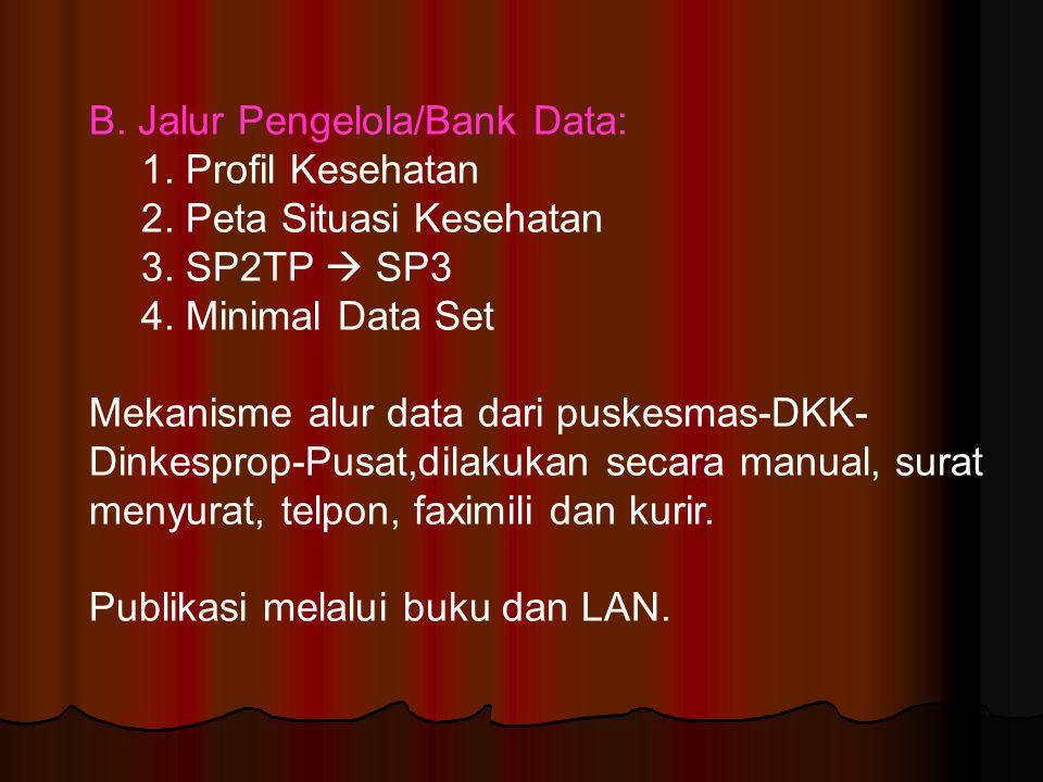 B. Jalur Pengelola/Bank Data:
