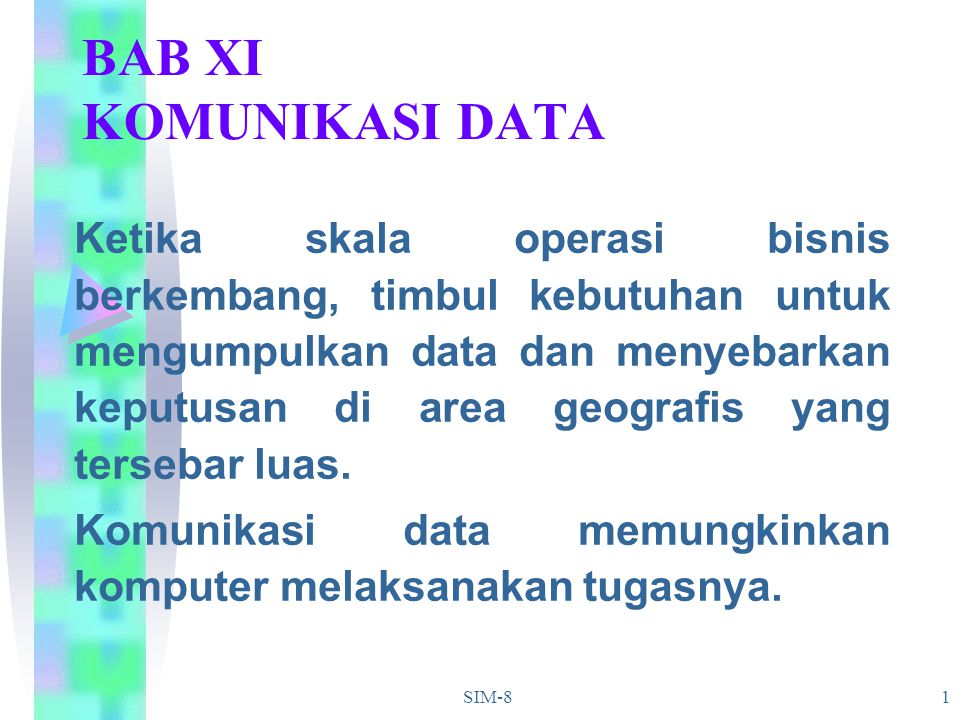 BAB XI KOMUNIKASI DATA