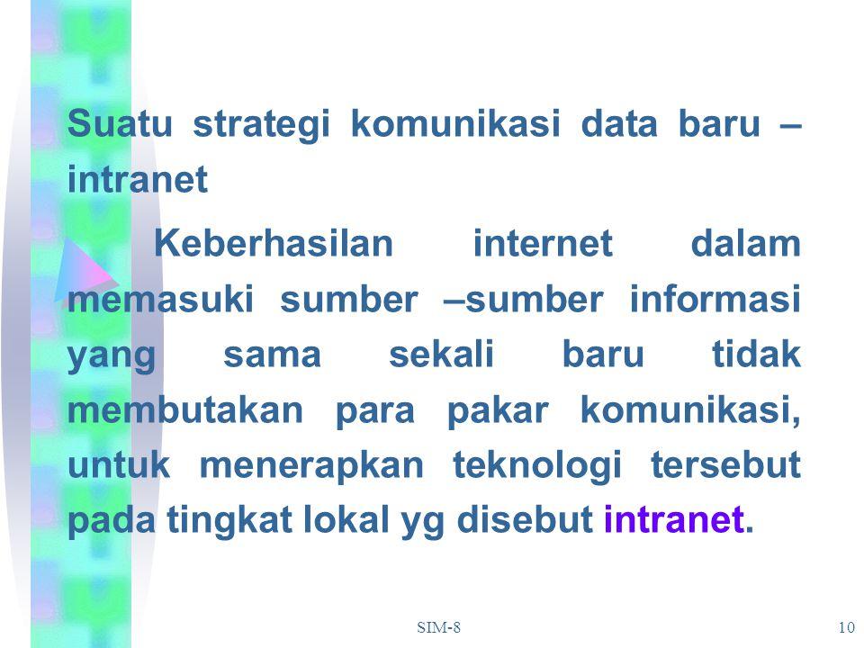 Suatu strategi komunikasi data baru – intranet